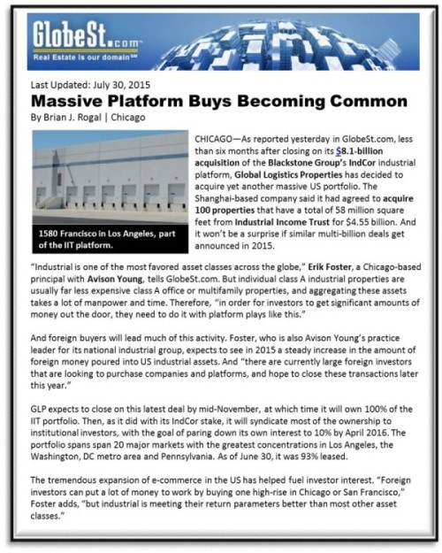 GlobeSt.com — Massive Platform Buys Becoming Common