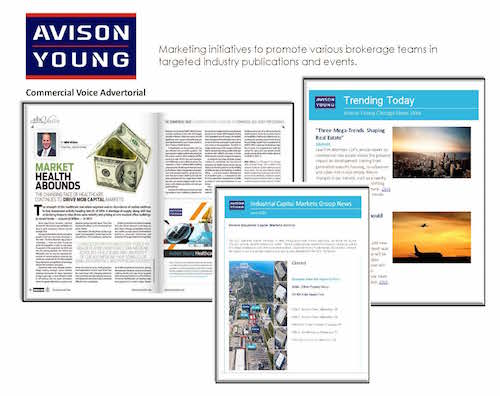 Email Marketing and Advertorial Writing/Editing: Avison Young