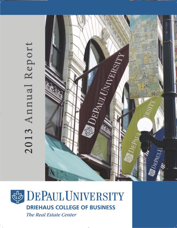 Annual Report Writing/Print and Design Coordination: DePaul University's Real Estate Center