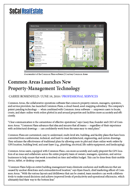 Common Areas Launches New Tech