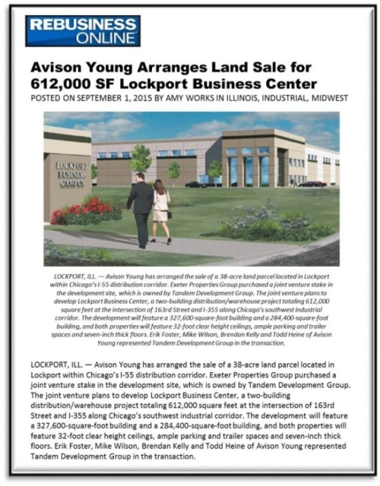 REBusiness–612K SF Land Sale