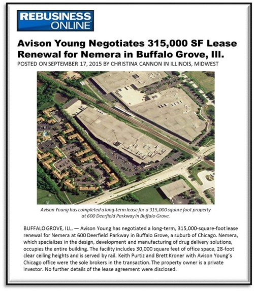 REBusiness: Avison Young Negotiates 315K SF Lease Renewal