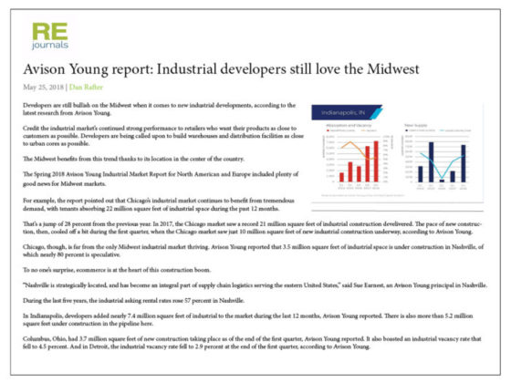 Industrial Developers Like the Midwest