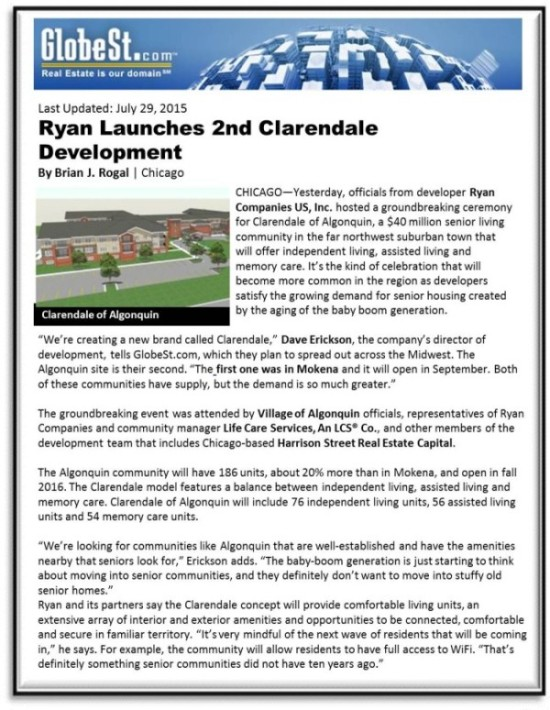 Ryan Launches 2nd Clarendale Development