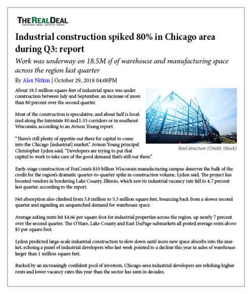 Industrial Construction Spikes in Chicago